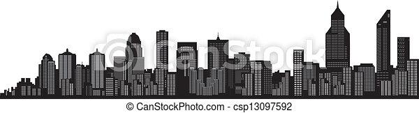 Busy City Clipart Vector Busy City Skyline