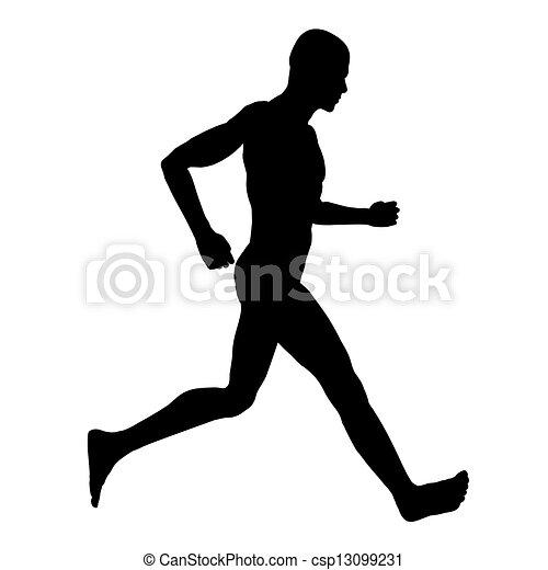 Dessins de coureur, silhouette - informatique, engendré ... Sprint Logo Black
