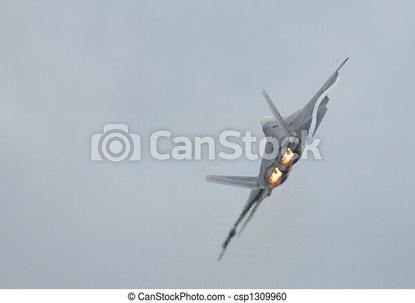 F-22 Raptor  turning - csp1309960