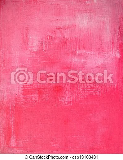 Pink Abstract Art Painting - csp13100431