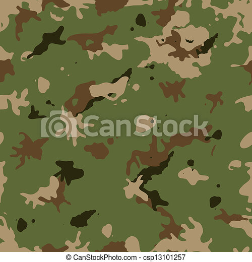 Seamless Military Camouflage - csp13101257