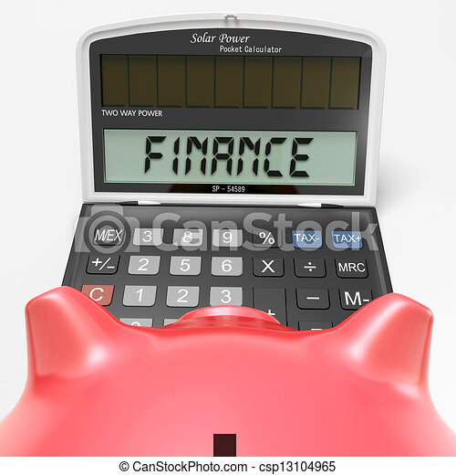 Finance Calculator Shows Money, Commerce And Accounting - csp13104965