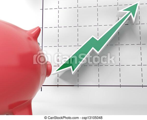 Growing Chart Shows Statistics Graphics - csp13105048