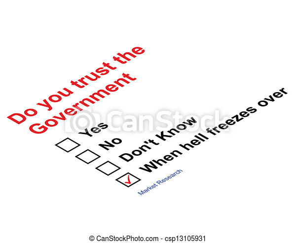 Trust Government - csp13105931