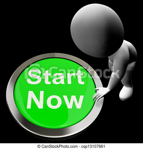 Stock Illustration of Start Now Button Means To Commence ...