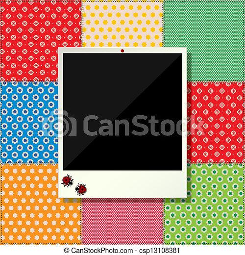 Digital scrapbooking photo frame - csp13108381