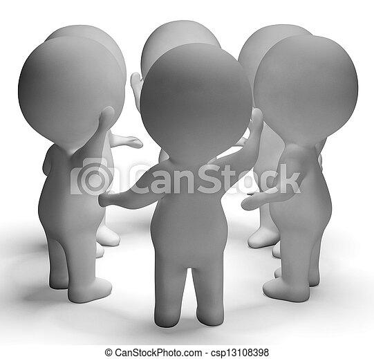 コミュニケーション, 議論, 会話, 特徴, ∥間に∥, 3d, ショー - csp13108398