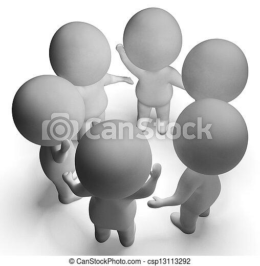 コミュニケーション, 提示, 会話, 特徴, ∥間に∥, 議論, 3d - csp13113292