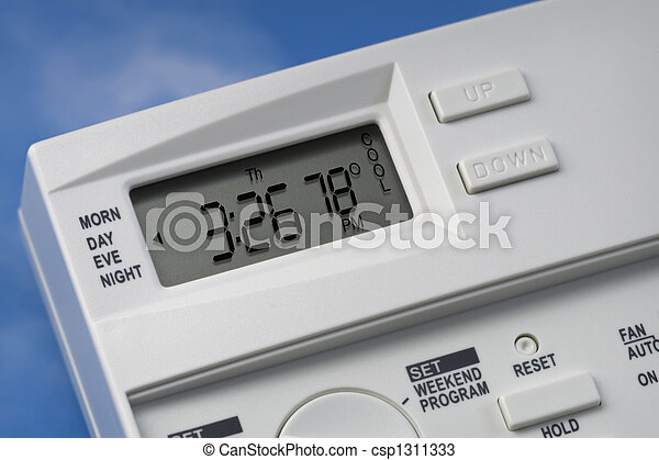 Stock Photos Of Sky Thermostat 78 Degrees Cool V1 Note