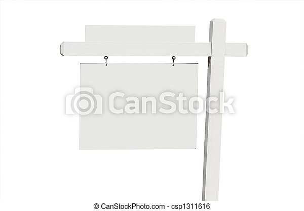 Blank Real Estate Sign - csp1311616