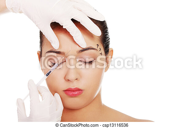 photo cosm tique botox injection femme figure image images photo libre de droits. Black Bedroom Furniture Sets. Home Design Ideas