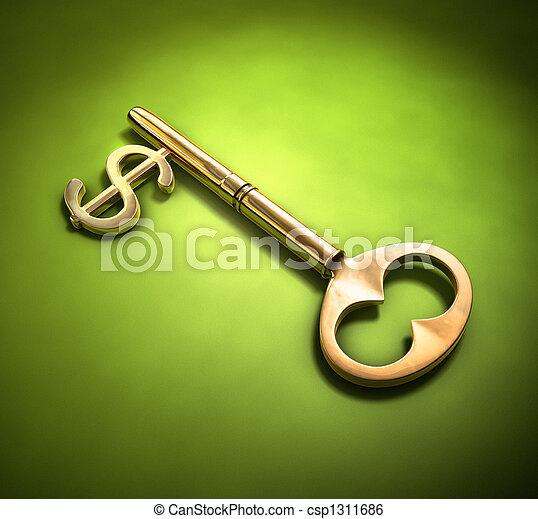 Key to wealth - csp1311686
