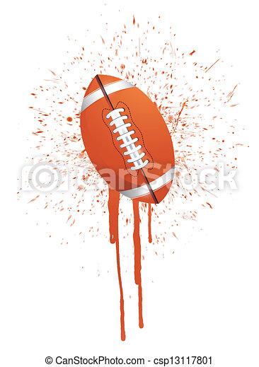 ink splatter football illustration  - csp13117801