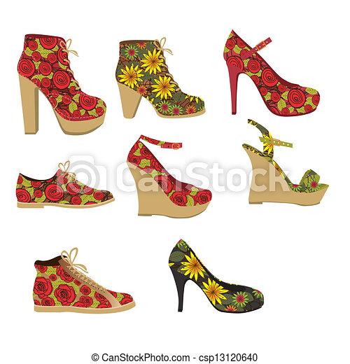 ... ファッション, 靴, ベクトル