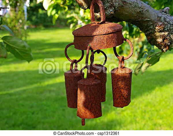 Garden bell wind chimes - csp1312361