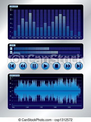 Blue sound mixer - csp1312572