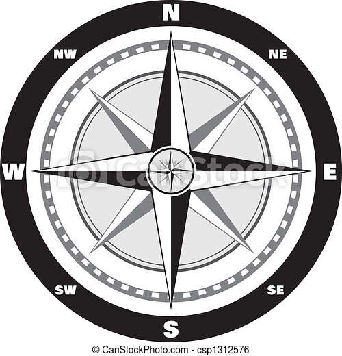 Wind rose compass - csp1312576