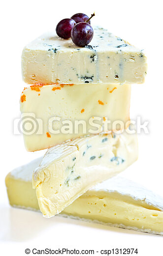Stack of various cheeses - csp1312974