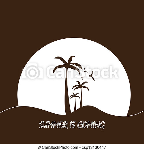 Summer tropical holiday background - csp13130447