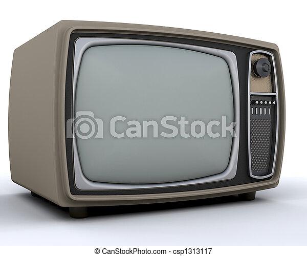 Retro television - csp1313117