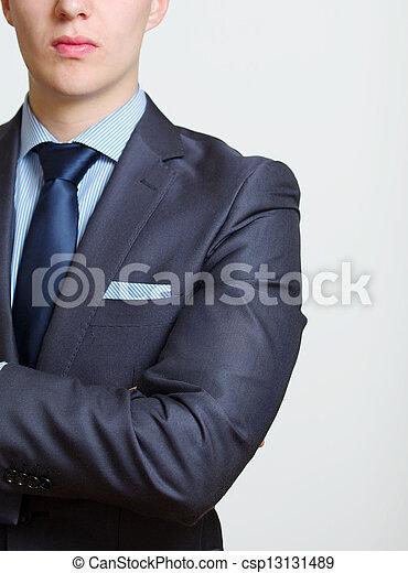 Elegant business man - csp13131489