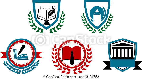Set of abstract university or University Logo Vector