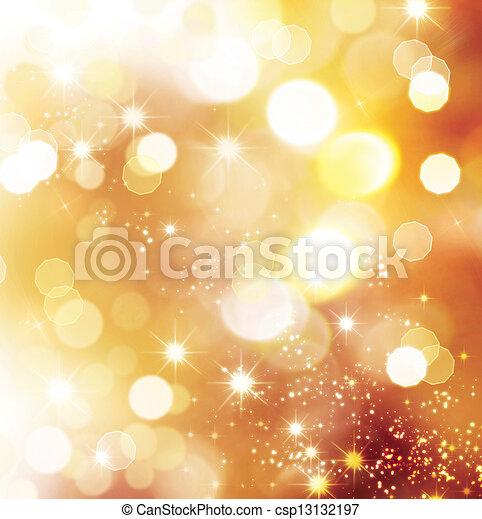 Christmas Holiday Golden Abstract Background - csp13132197