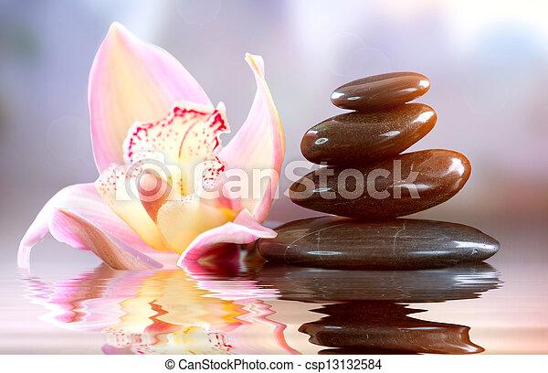 Spa Zen Stones. Harmony Concept  - csp13132584