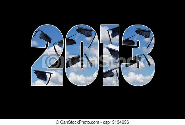 graduation caps for 2013 - csp13134636