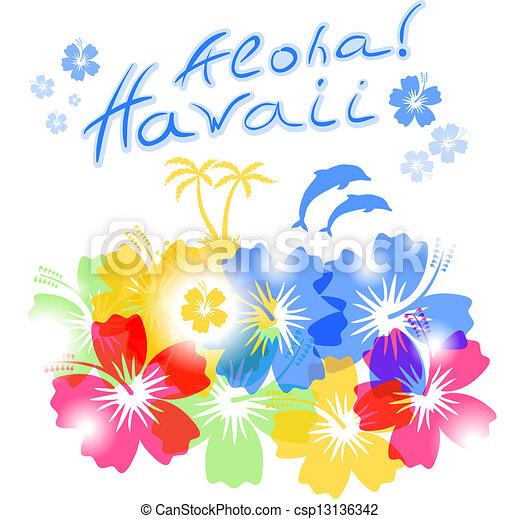 矢量-aloha, 夏威夷, 背景