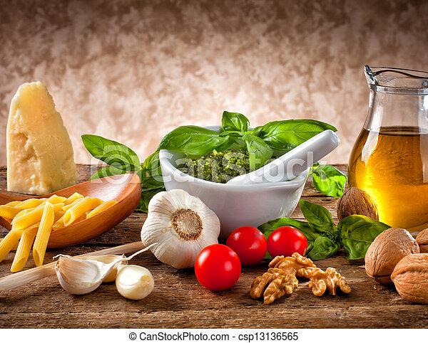Ingredients for Pesto - csp13136565