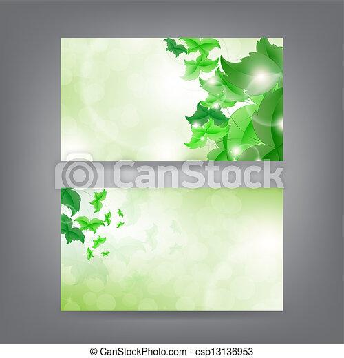 Environment theme business card template - csp13136953