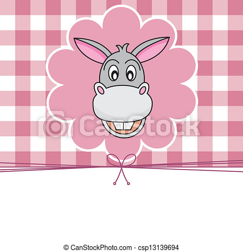 Animal card. donkey - csp13139694