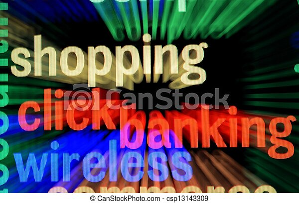 On line banking and shopping - csp13143309