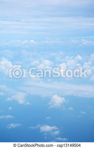 White clouds with blue sky - csp13149504