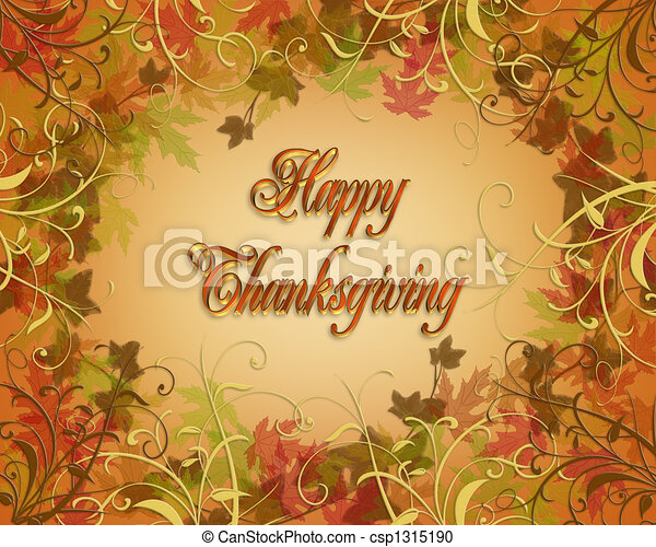 Happy Thanksgiving Card - csp1315190