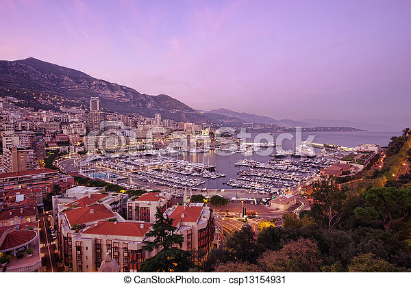 Monaco sunset - csp13154931