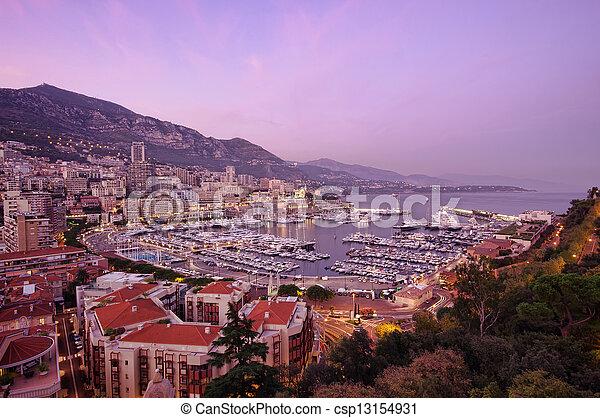 Monaco sunset - csp13154931