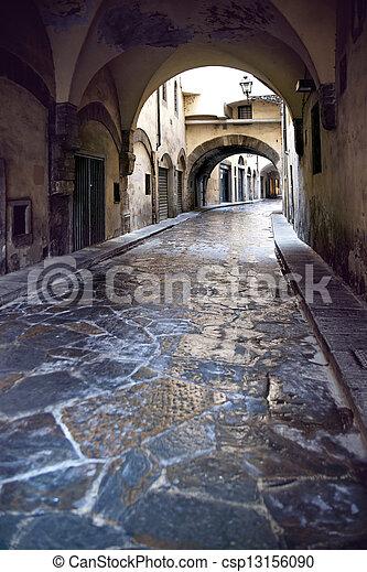 narrow street in Florence - csp13156090