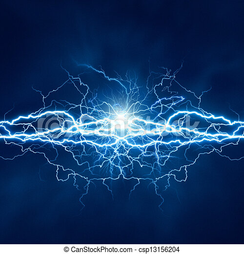 Electric lighting effect, abstract techno backgrounds for your design - csp13156204