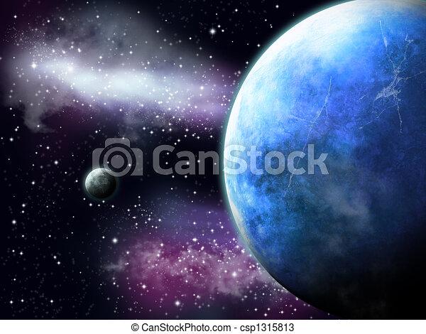 Dessins de paysage espace nuit paysage les compagnon for Paysage espace