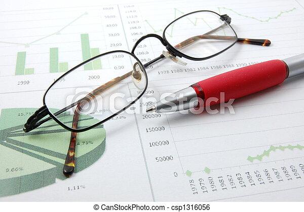 business chart showing success - csp1316056