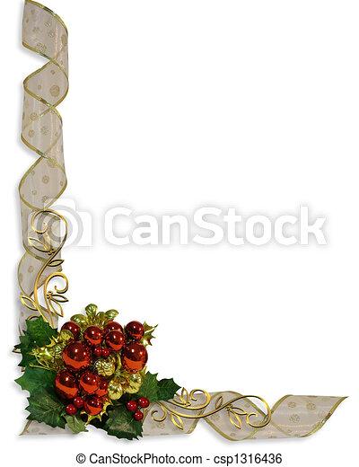 Christmas Border Corner design - csp1316436