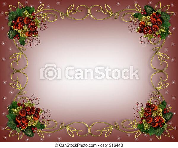 Christmas border frame elegant - csp1316448