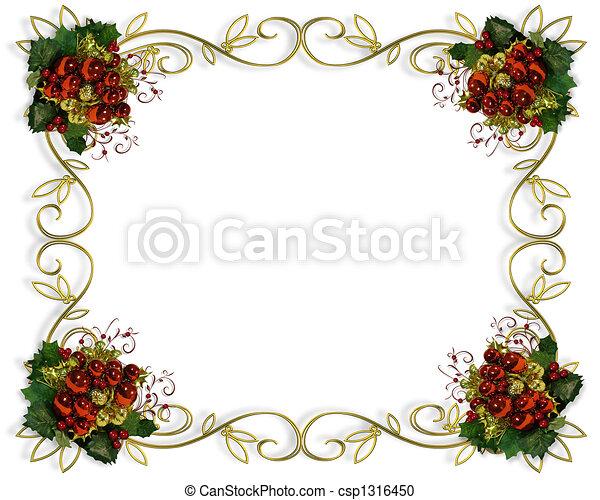 Christmas border frame elegant - csp1316450