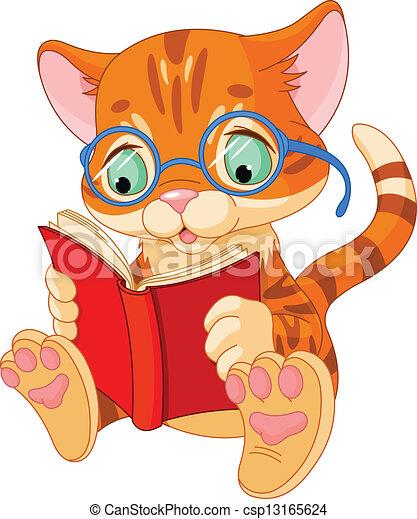 Cute Kitten Education - csp13165624