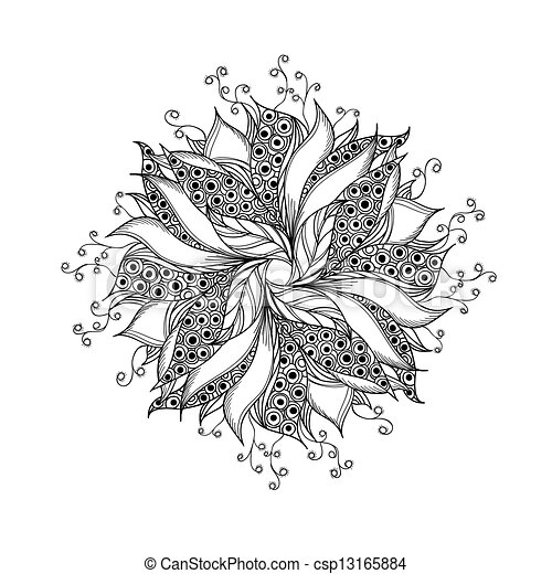 Vecteur de tatouage fleur mod le fantasme noir blanc - Modele dessin fleur ...
