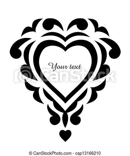 clip art vecteur de tatouage ornement mod le coeur. Black Bedroom Furniture Sets. Home Design Ideas