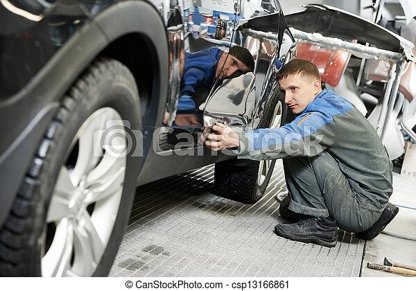 automobile car body paint check - csp13166861