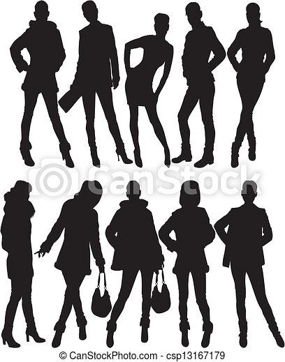 fashion silhouette - csp13167179